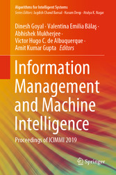 Information Management and Machine Intelligence Proceedings of ICIMMI 2019